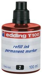 Edding navulinkt voor permanent markers e-T100 rood
