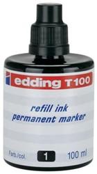 Edding navulinkt voor permanent markers e-T100 zwart