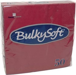 Bulkysoft servetten 2-laags, bordeaux, pak van 50 servetten