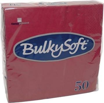 Bulkysoft servetten 2-laags, bordeaux, pak van 50 servetten