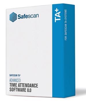 Safescan software TA+, voor tijdregistratiesystemen