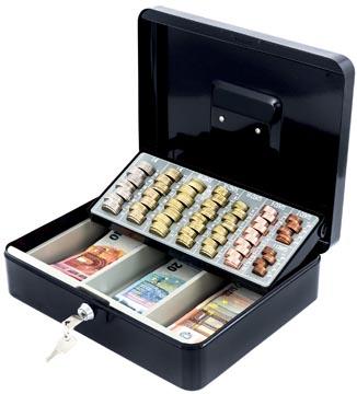 Acropaq geldkoffer met muntsorteerder, ft 30 x 24 x 9 cm, zwart