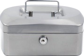 Acropaq geldkoffer, ft 20,5 x 16 x 9 cm, zilver