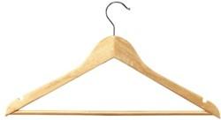 Unilux Kledinghanger hout, pak van 25 stuks