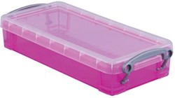 Opbergdoos 0,55 liter hel roze gekleurde transparante Really Useful Box