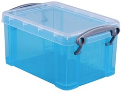 Opbergdoos 0,7 liter Hel blauwe transparante Really Useful Box