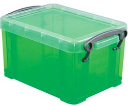 Opbergdoos 0,7 liter groene transparante Really Useful Box