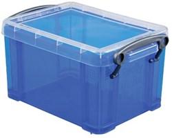 Opbergdoos 1,6 liter blauw gekleurde transparante Really Useful Box
