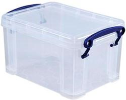 Opbergdoos 1,6 liter transparante Really Useful Box