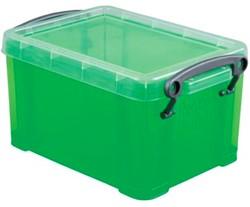 Opbergdoos 1,6 liter groen gekleurde transparante Really Useful Box
