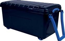 Really Useful Box 160 liter, met wieltjes en handvat, zwart