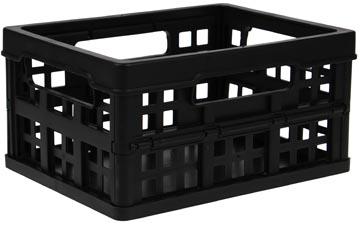 Inklapbaar opbergkrat 1,7 liter Really Useful Boxes zwart