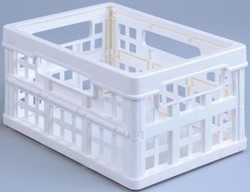 Klein inklapbaar opbergkrat 1,7 liter Really Useful Boxes wit