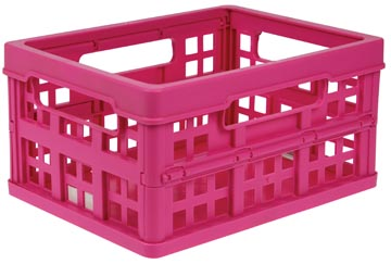 Klein vouwkratje 1,7 liter Really Useful Box roze
