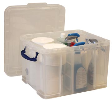 Opbergbox met vakken 35 liter transparant Really Useful Box
