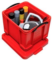 Opbergbox rood plastic 35 liter Really Useful Box