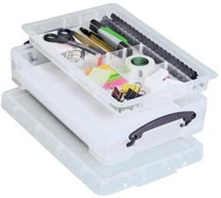 Plastic opbergbox met vakken inhoud 4l 395x255x88mm