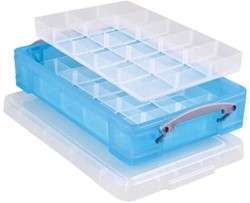 Really Useful Box gekleurde transparante opbergd       helblauw