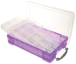 Really Useful Box gekleurde transparante opbergd paars