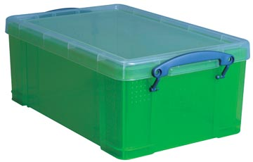 Opbergbox 9 liter groen gekleurde transparante Really Useful Box