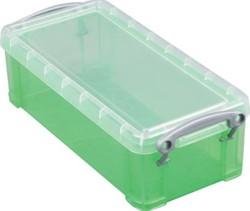 Opbergbox 9 liter groen gekleurde transparante Really Useful Box