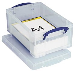 Opbergbox 9 liter transparant Really Useful Boxes