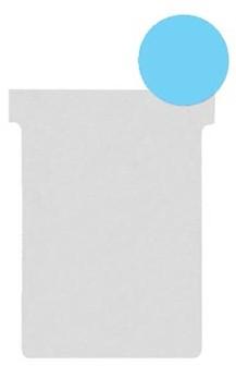 Nobo T-planbordkaarten index 2, ft 85 x 60 mm, blauw