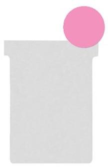 Nobo T-planbordkaarten index 2, ft 85 x 60 mm, roze