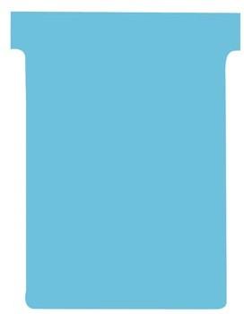 Nobo T-planbordkaarten index 3, ft 120 x 92 mm, blauw