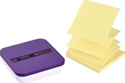 Super Sticky Z-Notes voor ft 76 x 76 mm,met dispenser, 2 blokken, geel