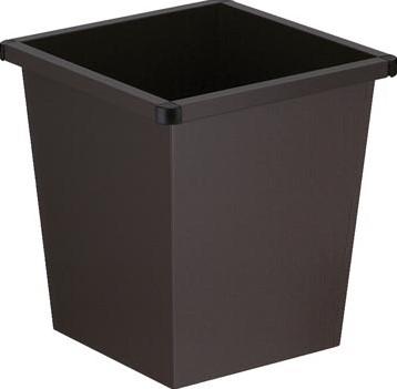 Papiermand metaal 27 liter zwart V-Part