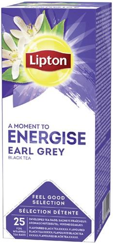 Lipton thee Energise Earl Grey 25stuks