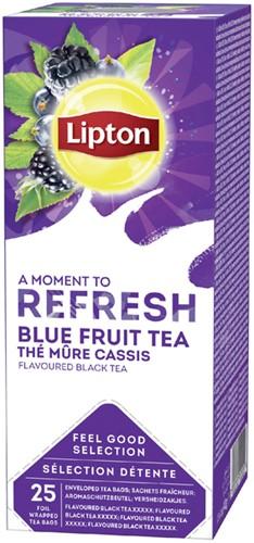 Lipton thee Refresh Blauwe bessen 25stuks