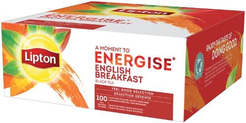 Lipton thee Energise English Breakfast 100stuks