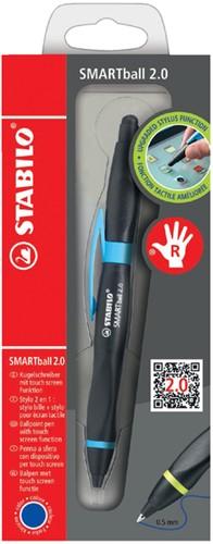 Stabilo balpen Smartball voor rechtshandigen zwart/blauw