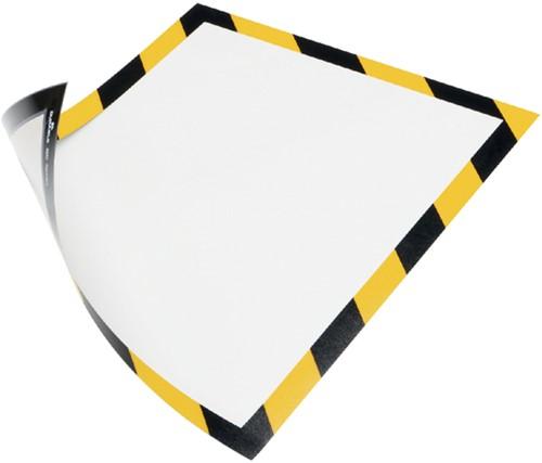 Durable Duraframe Magnetic Security ft A4, geel/zwart, 5 stuks