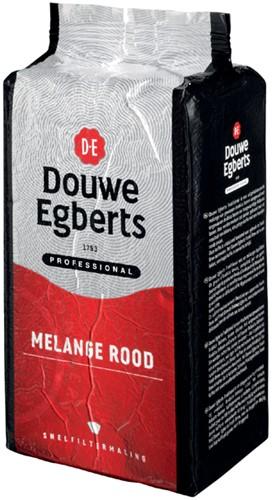 Douwe Egberts gemalen koffie voor snelfilters Rood, pak van 1 kg