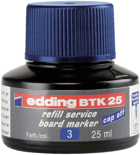 Navulinkt voor whiteboard stiften Edding 25 ml blauw