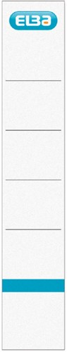 Elba Rugetiketten rug van 5 cm, wit