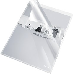 Esselte insteekmap glashelder 110 micron 100 stuks