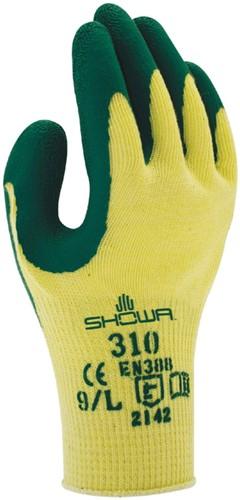 Griphandschoenen Showa 310 grip groen/geel extra large