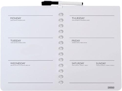 Desq magnetische weekplanner ft 28 x 39,5 cm