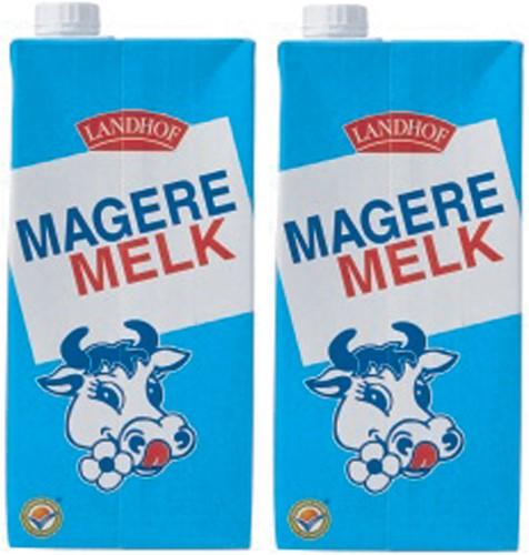 Melk Landhof mager houdbaar 1 liter