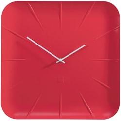 Sigel wandklok Inu diameter 35 cm rood