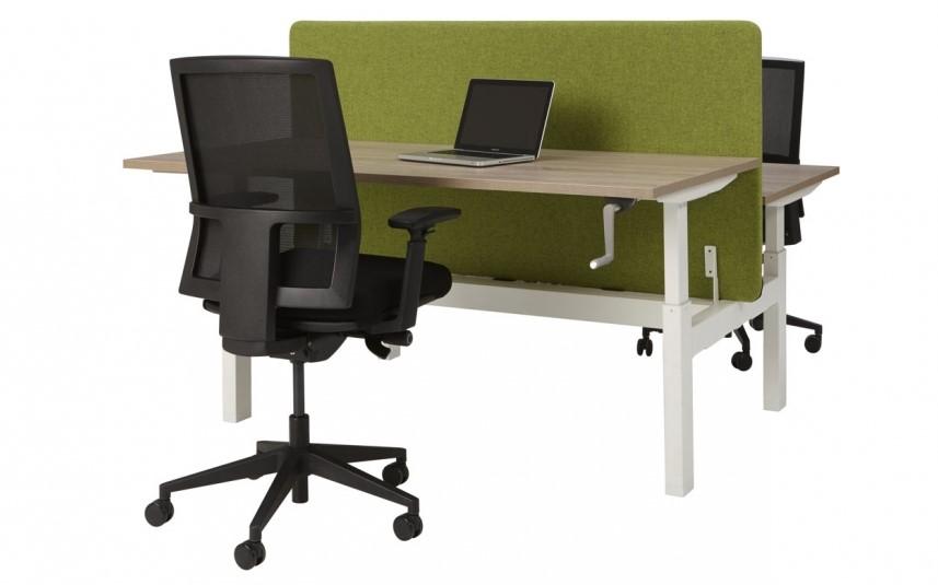 Zit sta bureau duo handmatig verstelbaar 180x165cm for Bureau zit sta