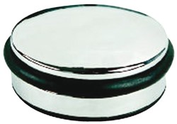 Zware deurstopper metaal 13cmin chroom