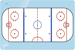 Accent magnetisch whiteboard ijshockey 30x40cm