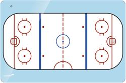 coachbord ijshockey veld 30x40cm