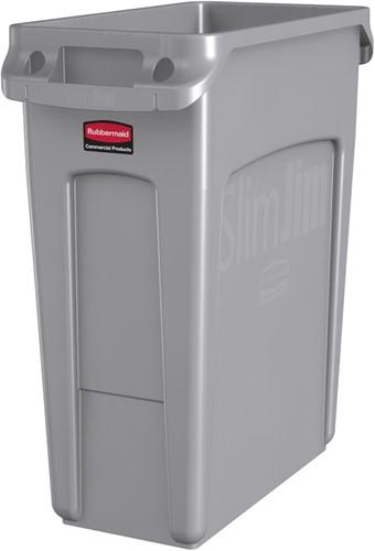 Afvalbak Rubbermaid Slim Jim 60 liter grijs