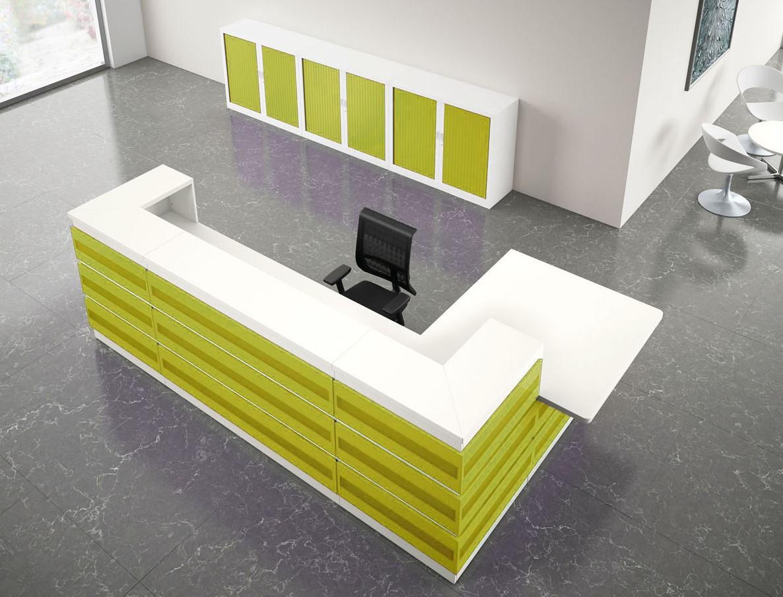 Kantoor balie Welcome  u0026quot;Metal u0026quot; groot bij Pro Office